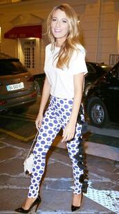 pants,blake lively,shoes