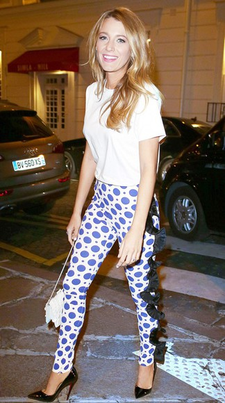 blake lively shoes pants