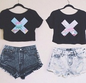 top,t-shirt,crop tops,x tee,phone cover,power bank,phone charger