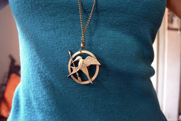 the hunger games mockingjay jewels pin collar necklace