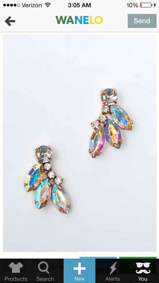 jewels earrings gems earrings iridescent