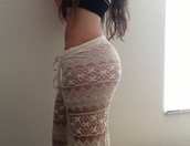 pants,lace,cute,pale,butt,sweatpants,pajamas,nightwear,white,tumbr,tumbrl outfits,tights