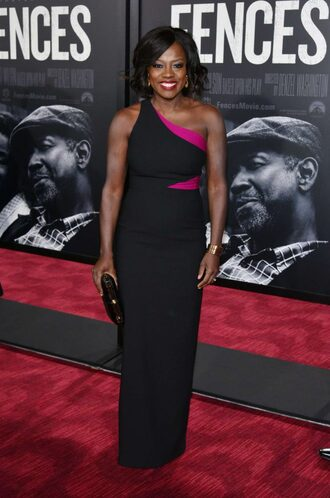 dress viola davis gown one shoulder how to get away with murder