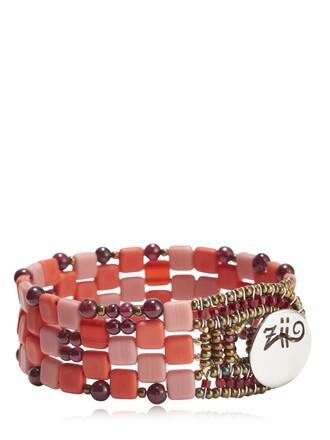 beaded bracelet beaded red jewels