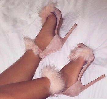 Fur Ankle Sandals