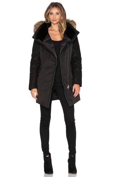 jacket fur sheepskin black
