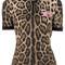 Dolce & gabbana - leopard print blouse - women - silk/cotton/polyamide/glass - 40, brown, silk/cotton/polyamide/glass