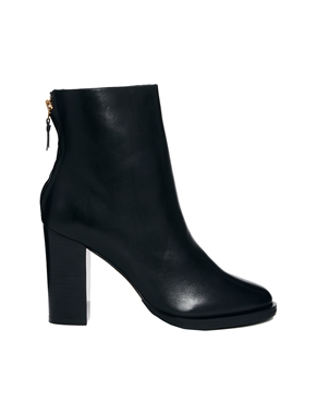 Whistles | Whistles Anjelica Zip Back Black Ankle Boots at ASOS
