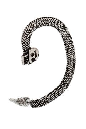 Skull snake ear hanger