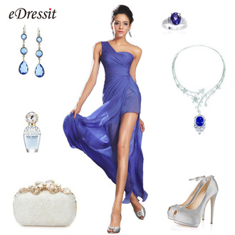 dress edressit blue evening dress fashion beautiful