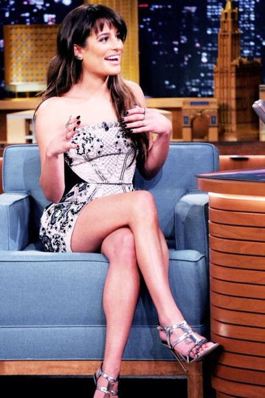 dress lea michele shoes