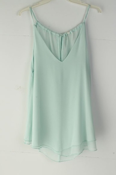 mint summer light blue tank top top girly summer outfits tumblr girl