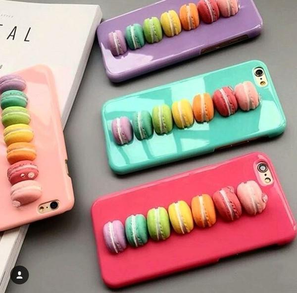 phone cover macaroon macaron rainbow