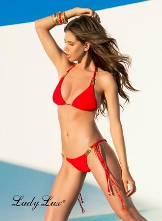 swimwear red bikini red swimwear red two piece bikini red bathingsuit red bathing suit luxury swimwear designer swimwear triangle bikini lady lux