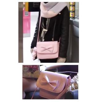 bag pink pastel bow