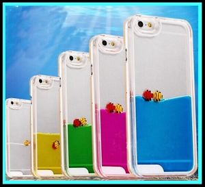 cdcdc30dec9 Carcasa/Funda Transparente con Liquido Agua Original! iPhone 5/5S ...