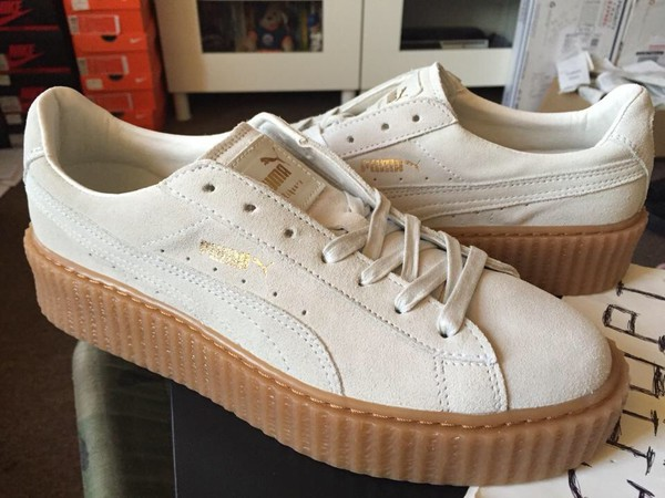 shoes puma white puma by rihanna puma creepers low top sneakers creepers