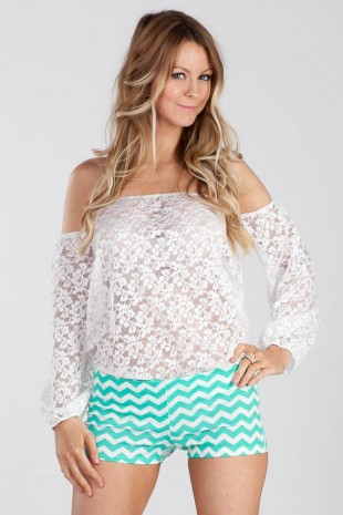 White Lace Off Shoulder Top «  Ooh La Luxe!  – Juniors & Contemporary High Street Fashion