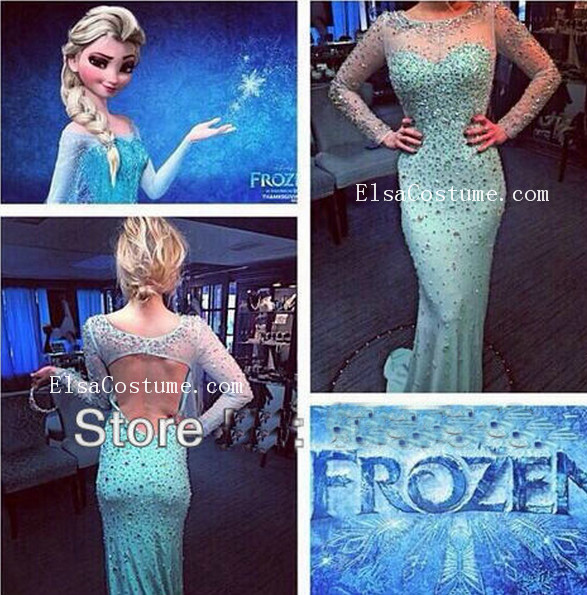 Elsa Frozen Dress Custom-made by Osca [ED1006] - $256.00 : Elsa costume - Custom Elsa Dress