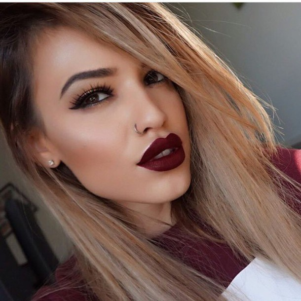 Make Up Fall Makeup Look Tumblr Dark Lipstick Lipstick