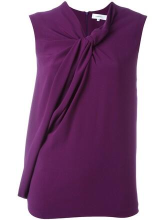 blouse sleeveless purple pink top