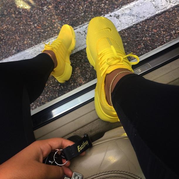 big sale 5e896 493a7 shoes yellow nike yellow nike presto nike air presto prestos presto yellow  prestos nike women s s