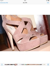 shoes,peach,beige,heels,wedges,cross,cross over,high,heel,pink,cream,high wedge,high heel,wedged