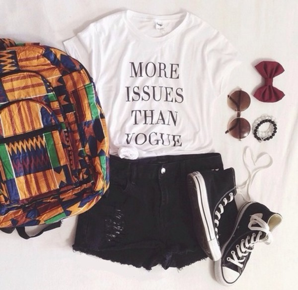 t-shirt hair accessory bag