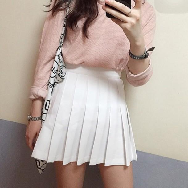 c637ffa98b skirt, white, girly, fashion, style, cute, sporty, boogzel, girl ...