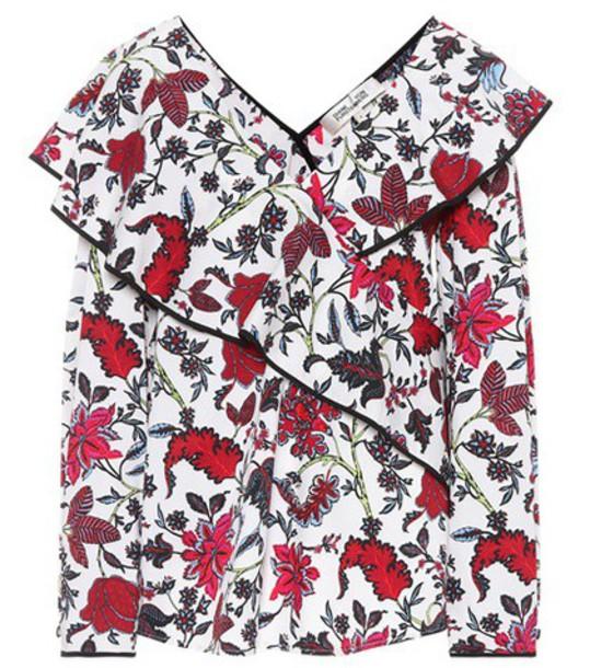 Diane Von Furstenberg top floral cotton