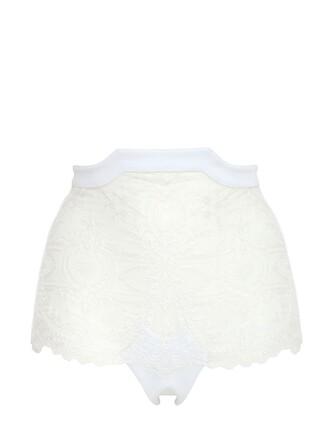 high neoprene white underwear