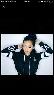 sweater,cropped sweater,black sweater,hoodie,cropped hoodie,black hoodie