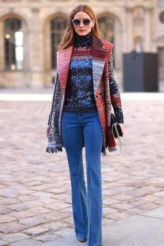 jeans denim olivia palermo coat fashion week 2015