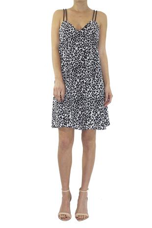 Leopard criss cross dress