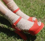shoes,kfashion,fashion,heels,socks,korean fashion,lace,socks and sandals