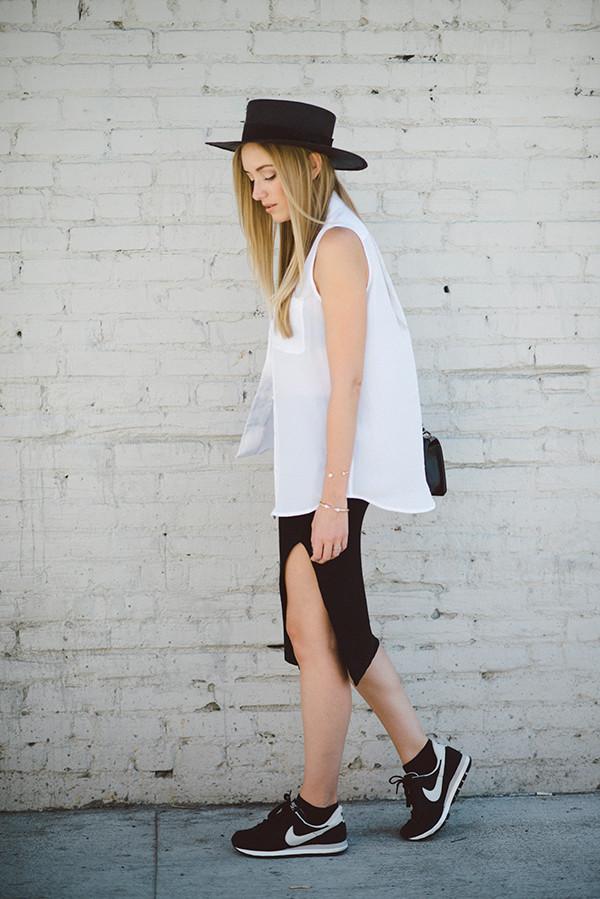 eat sleep wear blogger top skirt shoes