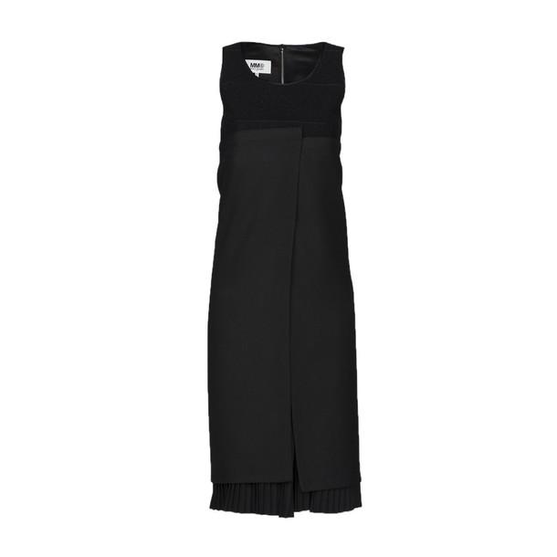 dress pleated black