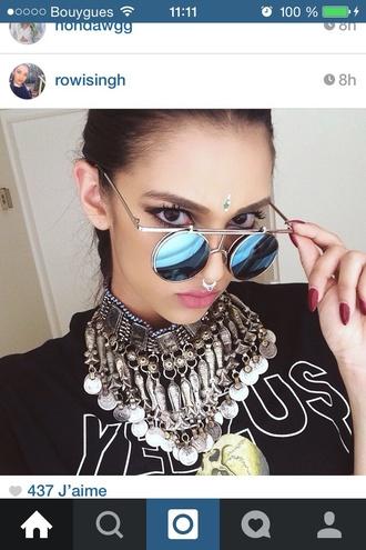 sunglasses blue sunglasses instagram asymmetrical