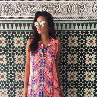 dress summer dress summer outfits shay mitchell colorful