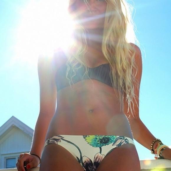 swimwear bikini floral swimwear