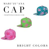 hat,marijuana hat,girly,lime,red,redhat,marijuana,marijuana socks,leather caps,cap,snapback,printed snapback,teal,pink