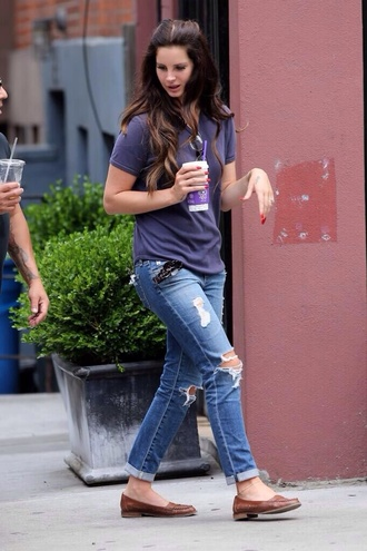 hipster lana del rey grunge del lana del rey jeans ripped distressed cropped skinny pants