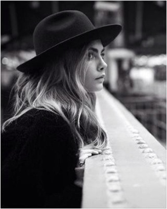 hat black hat felt hat fall accessories cara delevingne