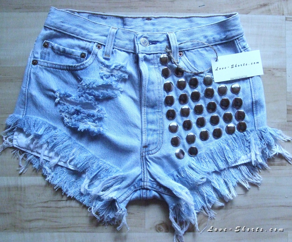Levi's high waisted frayed shorts