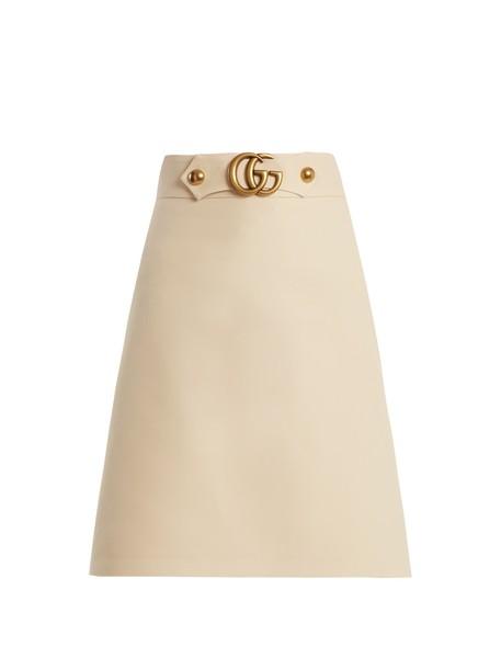 gucci skirt silk wool