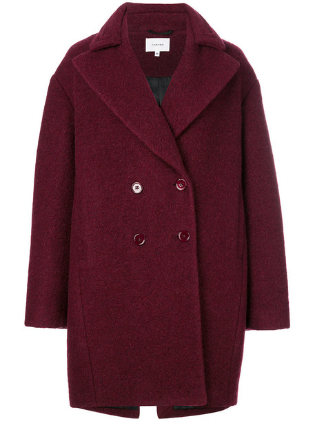 Carven coat oversized women fit wool red