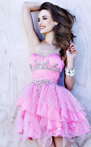 Short Pleated Pink Sequin Layered Prom Dress Sale [Short Pleated Pink dress] - $150.00 : Prom Dresses On Sale, 60% off Dresses for Prom Night 2013