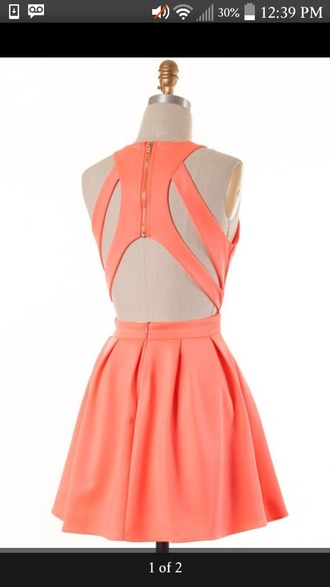 dress cute classy pastel pink salmon girly