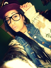 sweater,jeans,denim jacket,glasses,dope,swag,winter outfits,winter sweater,weheartit,cute,jewels,fabulous,jacket