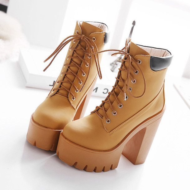 faux leather high heel ankle boots